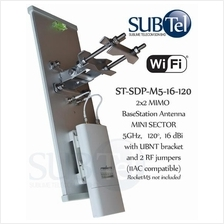 5 GHz 16 dBi 120 degree MIMO Mini-Sector WiFi Antenna for Ubiquiti