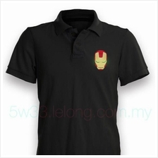 Iron Man Black Polo Shirt