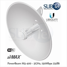 PBE-M5-400 Ubiquiti PowerBeam M5 5GHz 25 dBi PTP WiFi UBNT Bridge