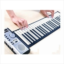 Foldable Roll Up Soft Piano Keyboard 61 Keys With Power Adaptor
