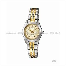 CASIO LTP-1371SG-9AV STANDARD Analog rhinestone bracelet gold