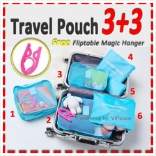 6 pcs Travel pouch Multi Size Organizer Mesh Bags In Bag Laundry