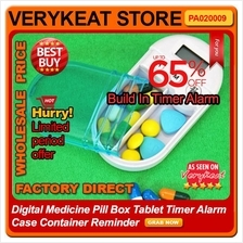 Digital Medicine Pill Box Tablet Timer Alarm Case Container Reminder