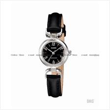 CASIO LTP-1373L-1A STANDARD glass cut jewelry effect leather black