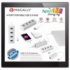 ★ MACALLY 4-PORT PORTABLE USB 3.0 HUB (Mac & PC)