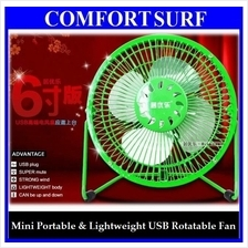 Portable Lightweight Super Mute 4' 6' Mini USB Rotatable Fan