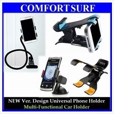 NEW Ver. Car Universal Mobile Phone GPS Holder Dual Clip Adjustable