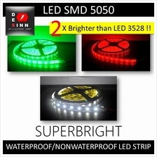 12VDC SMD 5050 LED Strip 5Meter 300/600 LEDs Waterproof/Non-Waterproof