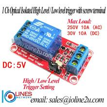 1 Channel 5V Optocoupler isolated Relay Module board arduino Raspberry