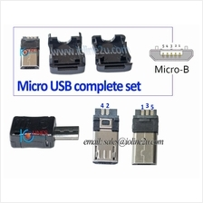DIY USB cable Extension cable soldering type Micro USB male connector