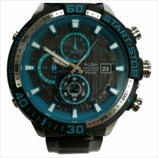 ALBA . AM3135X . Flagship . M . Chronograph . SSB . Black Blue