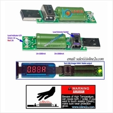 1A 2A USB charger charge current load tester Power bank discharge test