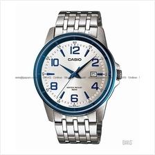 CASIO MTP-1344BD-7A2V STANDARD Analog easy reader SS bracelet silver