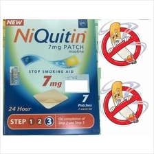 No Smoking Patch 7mg (IRELAND) x 7 (Henti Merokok) RM90
