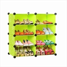 Living Cabinet 8 Cubes Rack Easy DIY Multipurpose Wardrobe (Green)