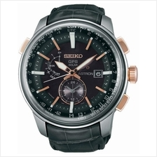 SEIKO . SAS038J1 . ASTRON . M . World Time . LSB . GPS Solar . Black