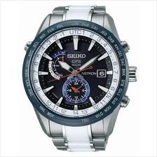 SEIKO . SAS029J1 . ASTRON . M . World Time . TSB . GPS Solar Black LE