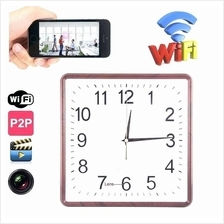 P2P WiFi Wall Clock Spy Camera H.264 Video Recorder 90 degree Angle