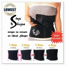 LIMITED PROMO ! Japan 4 Step Shape Tummy Wrap Slimming Belt / Bengkung