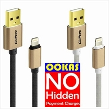 CLIPTEC Nylon Braided 8 Pins USB Lightning Cable OCC141 Charging&Data