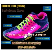 SHB 01 Ltd Pink Badminton Shoes Kasut (Japan)badminton