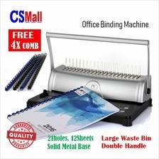 2in1 HS815 Office School Home Punch Bind Comb Binder Binding Machine