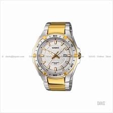 CASIO MTP-1306SG-7AV STANDARD Analog Date SS bracelet silver