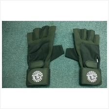 Gym Shark Leather Glove + Wrist Support (Sarung Tangan gym)  RM55