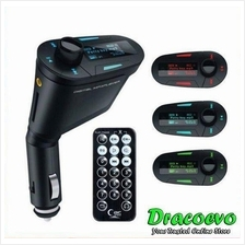 3 Colors Car Kit MP3 Music FM Transmitter Radio Memory Card Slot