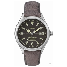 TIMEX TW2P75000 (M) The Waterbury Date leather strap black brown