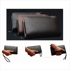 Men High Quality Faux Leather Clutch Bag Long Wallet