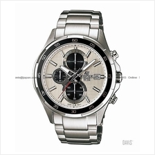 CASIO EFR-531D-7AV EDIFICE chronograph date SS bracelet silver