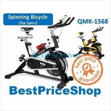 Top Specs Iron Spinning Bicycle Slim Cycling Exercise Bike QMK-1568