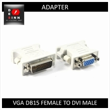 VGA DB15 Female to DVI 24+5 Pins Male Adapter Converter /pc