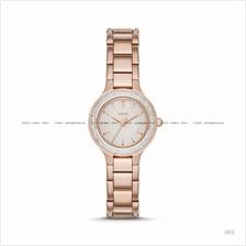 DKNY NY2393 Women's Chambers Classic Glitz SS Bracelet Rose Gold