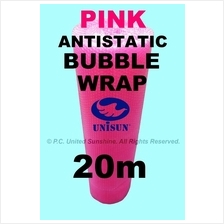 PINK ANTISTATIC BUBBLE WRAP 1m x 20m ONLINE PROMO Plastic Packaging