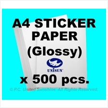 x500pcs A4 STICKER PAPER (Glossy) 160gsm HIGH QUALITY Label Stickers