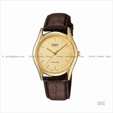 CASIO MTP-1094Q-9A STANDARD Analog index face leather strap gold