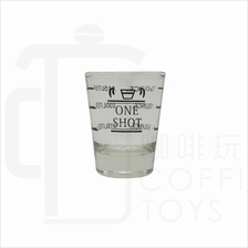 One shot Espresso Shot Glass / Measure Cup 2oz