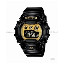 CASIO BG-1006SA-1C Baby-G Colourful LCDs resin strap black gold