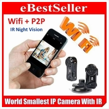 Smallest P2P Wireless IP Camera IR Night Vision Wifi Sport DV CCTV DVR