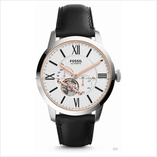 FOSSIL ME3104 Men's Townsman Automatic Leather Strap White Black
