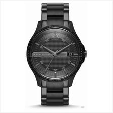 A|X ARMANI EXCHANGE AX2173 Men's Hampton Date SS Bracelet All Black