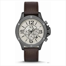 A|X ARMANI EXCHANGE AX1519 Men's Well Worn Leather Strap Brown