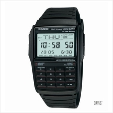 CASIO DBC-32-1A DATA BANK telememo calculator resin strap watch black