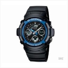 CASIO AW-591-2A G-SHOCK Analogue-Digital blue resin band watch