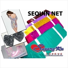 SEQUIN NET FABRIC 1 , 2 , 3 METER M5140 (NEW ARRIVAL) PROMOTION