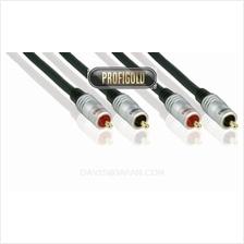 PROFIGOLD PRO PGA4205 5.0m/16.4ft Stereo 2xRCA Male -2xRCA Male cables