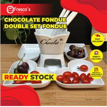 Chocolate Fondue Flower Set Porcelain Fondue Y14023