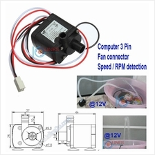 3.5V~12V DC Brushless water pump 350l/h 3 Pin Water Cooling speed RPM detect C
